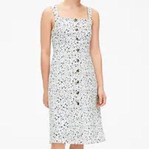 GAP Apron Dress in White Floral - SZ 8